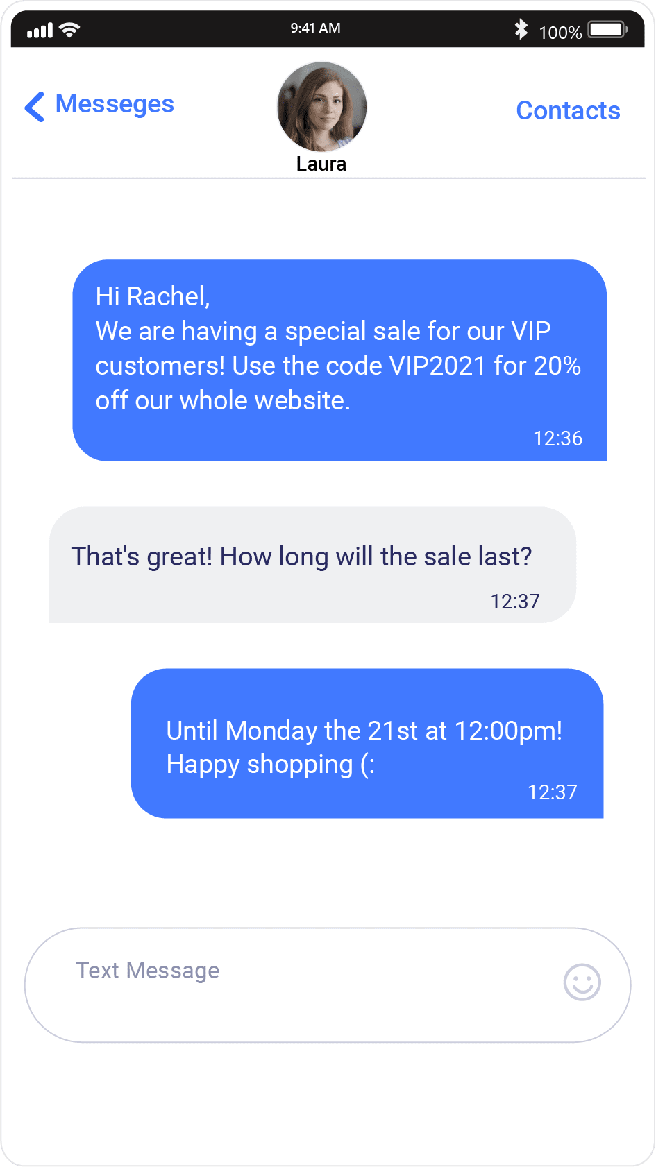 conversational promotions